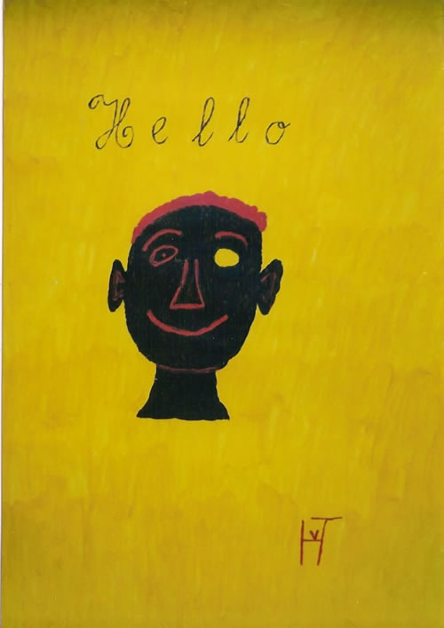 Picture of the painting: 'Hello - Salute!'