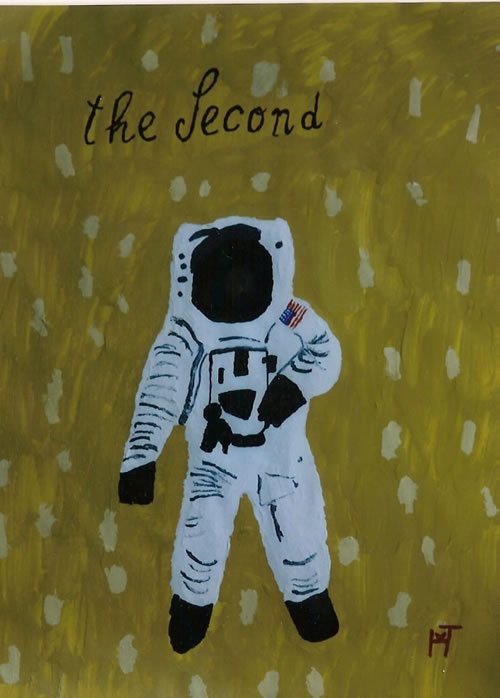Picture of the painting: 'The Second - Buzz Aldrin, the second man on the moon!'
