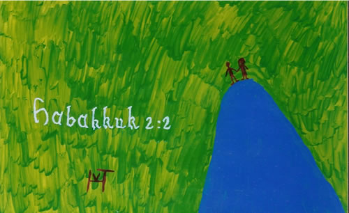 Picture of the painting: 'Habakkuk 2: 2 - Mission!'
