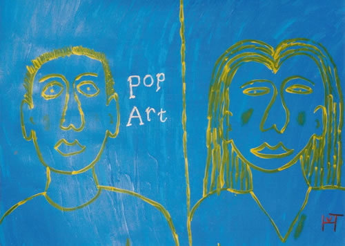 Picture of the painting: 'Pop Art - Populair Art!'