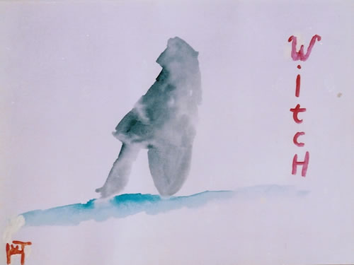 Picture of the painting: 'Witch - A nude model!'