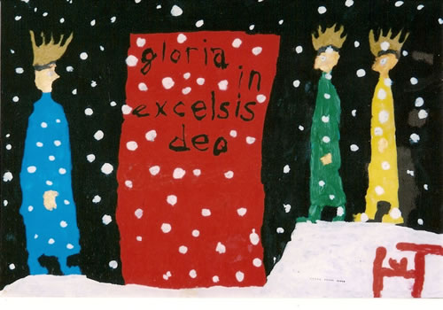 Picture of the painting: 'Gloria in excelsis deo - The three Kings for an open door!'