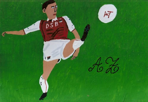 Picture of the painting: 'AZ - A footballer of Dutch football club AZ.'