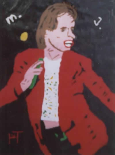 Picture of the painting: 'M.J. - Singer Mick Jagger of the Rolling Stones!'