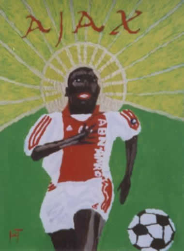 Picture of the painting: 'Ajax - An icon of footballer Hatem Trabelsi!'