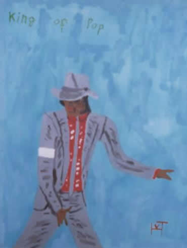 Picture of the painting: '`King of Pop - Michael Jackson!'