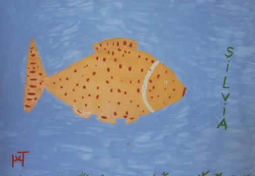 Picture of the painting: 'Silvia - A fish called Silvia or a fish is looking for Silvia!'