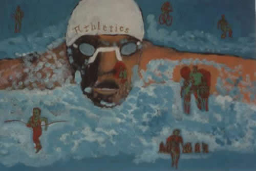Picture of the painting: 'Athletics - Athletes!'