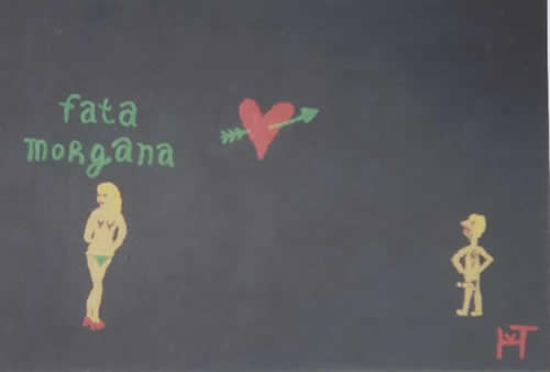Picture of the painting: 'Fata Morgana - A dream woman for a boy or man!'