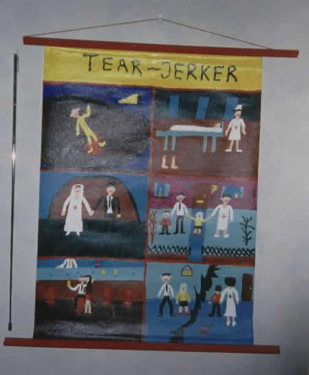Picture of the painting: 'Tear-Jerker - A sad story about my old family.'