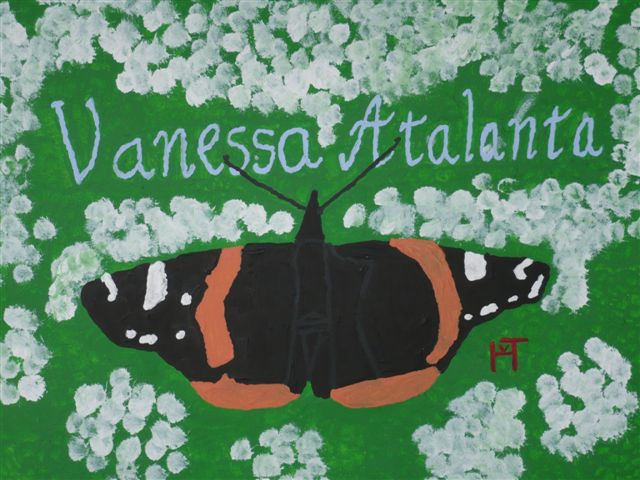 Picture of the painting: 'Vanessa Atlanta - A butterfly!'