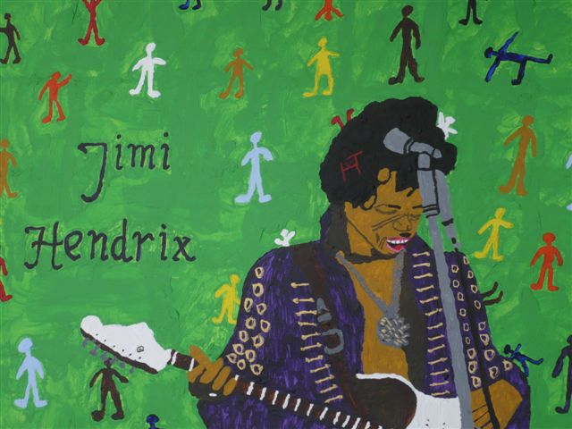 Picture of the painting: 'Jimi Hendrix - American Singer!'