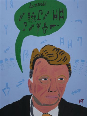 Picture of the painting: 'Louis van Gaal - Dutch football coach!'