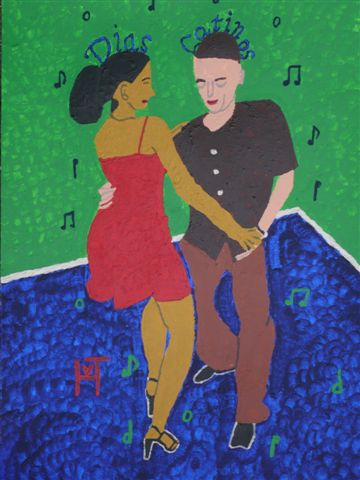Picture of the painting: 'Dias Latinos - Brazilian music and dance!'