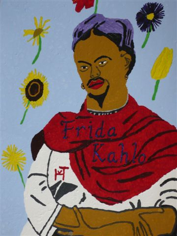 Picture of the painting: 'Frida Khalo - Mexican painter!'