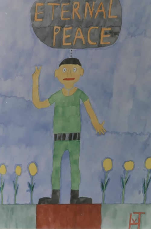 Picture of the painting: Eternal Peace ; 'the unarmed soldier'