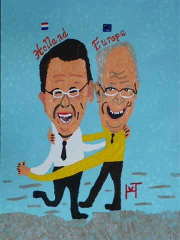 Picture of the painting: 'Dance of Joy - Two Presidents!'