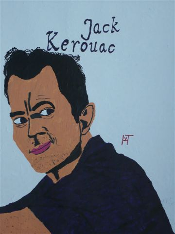 Picture of the painting: 'Jack Kerouac - American writer and beatnik!'