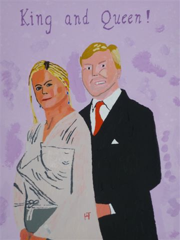Picture of the painting: 'King and Queen of Holland! - Royal Married Couple!'