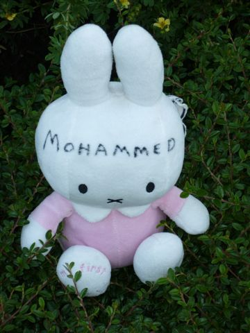 Picture of the painting: 'A rabbit - with Mohammed as name!'