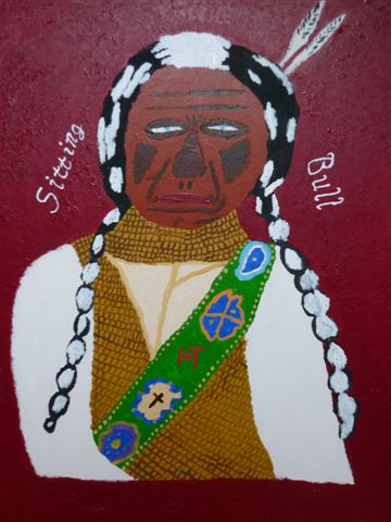 Picture of the painting: 'Sitting Bull - Leader of Indians!'