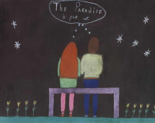 Picture of the painting: The Paradise is for us. ; 'An eternal human couple!'