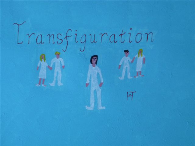 Picture of the painting: 'Transfiguration - Jesus, Moses and Elijah!'